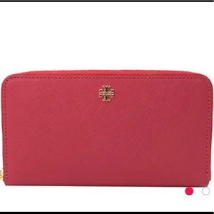 Tory Burch Emerson Zip Leather Continental Wallet